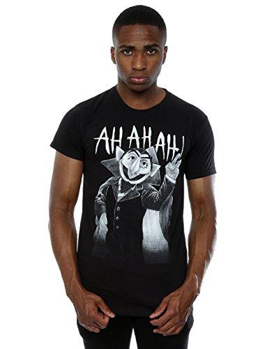 Count Von Count Ah Ah Ah T-Shirt Large Schwarz ()