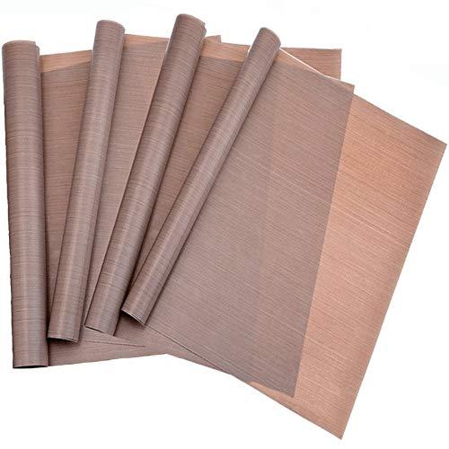 ie, Backpapier, Backfolie, Backunterlage, Silikonmatte (4er Set), 35 x 42 cm (Blechgröße), ohne Fett und Öl, zuschneidbar, spülmaschinenfest, antihaftbeschichtet ()