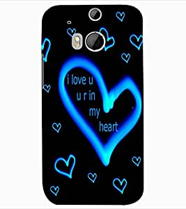 ColourCraft Love Quote with Image Design Back Case Cover for HTC ONE M8