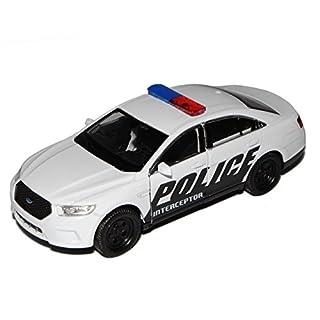 alles-meine.de GmbH Ford Interceptor Police Polizei USA Weiss Schwarz ca 1/43 1/36-1/46 Welly Modell Auto