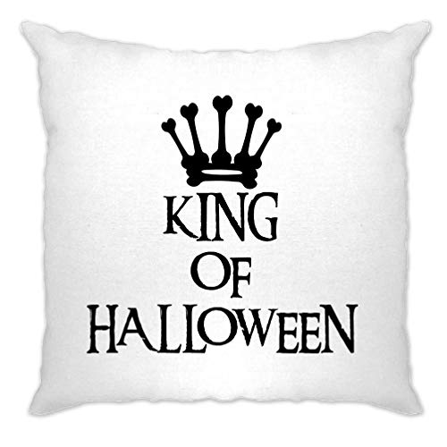 Tim And Ted Neuheit Spooky Kissenhülle King of Halloween Crown White One Size
