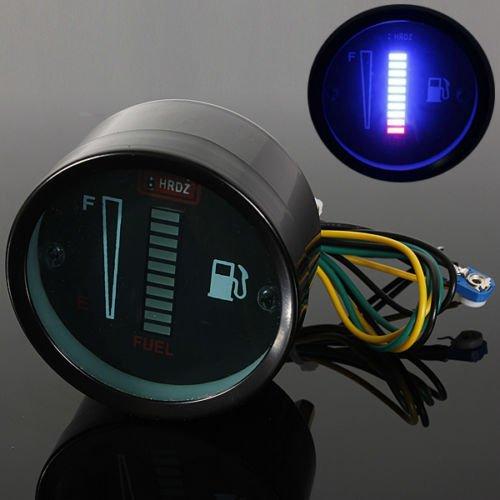 """2"""" 52mm Kraftstoffanzeige Tankanzeige LED,Tankuhr Digitaldisplay, DC12 V, für Auto Motorrad"""