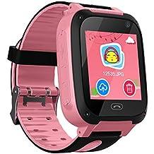 Niños Smart Watch Phone, GPS Tracker Smartwatch para niños de 3-12 años Niñas