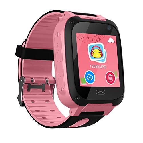 Reloj Niños Smart Watch Phone, LBS/GPS Tracker Smartwatch para Niños Niñas con...