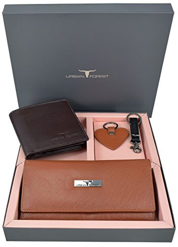 Urban Forest SAGE Shades of Brown Wallet Combo Gift Set for Women and Men