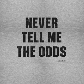 NERDO - Never Tell Me The Odds - Damen Kapuzenpullover Grau Meliert