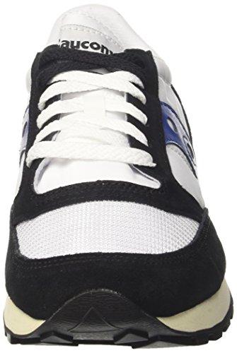 Saucony Herren Jazz Original Vintage Sneaker, Blau, 40 EU Weiß Schwarz