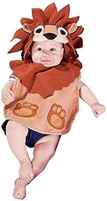 Nines d'Onil Export - Disfraz babero león, para bebés, color marrón (D9304)