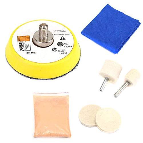 Aojuy Auto Glas Polierpad Reifen Kit Windschutzscheibe Kratzer Entferner Reparatur Werkzeug (Auto-kratzer-kit)