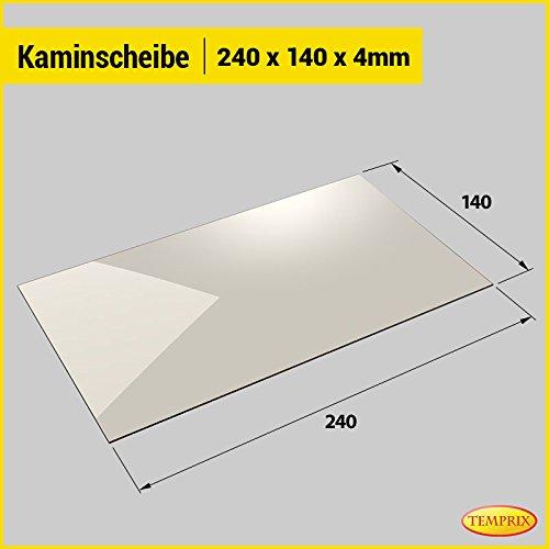 Kaminglas und Ofenglas 240 x 140 x 4 mm   Temperaturbeständig bis 800° C   » Wunschmaße auf Anfrage «   Markenqualität in Erstausrüsterqualität