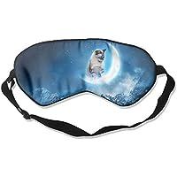 Eye Mask Eyeshade Cat On Moom Sleep Mask Blindfold Eyepatch Adjustable Head Strap preisvergleich bei billige-tabletten.eu