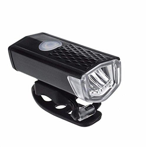 Bike Lights, wanshop degbit Super Hell Fahrradlicht-Set, Mountain Bike Light, USB-aufladbare LED Fahrrad Lampe Wasser resistent, einfach zu montieren, vorne Bike Licht Scheinwerfer mit Rückseite Schlusslichtern, schwarz