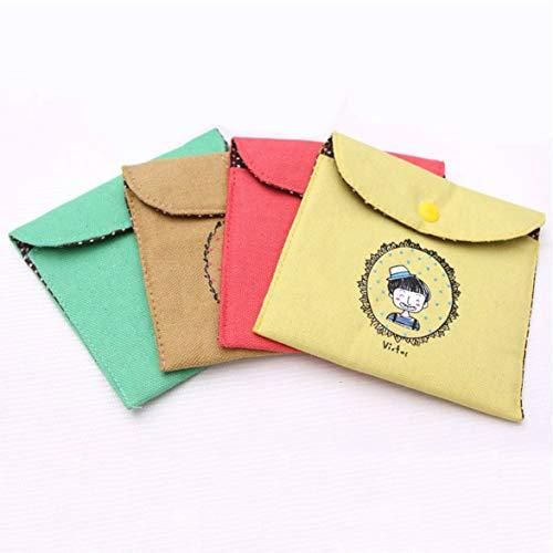 Banbie Vintage Baumwolle Leinen Damenbinden Beutel Damenbinde Aufbewahrungstasche Damenbinde Taschen Schlüssel Geldbörse Kreditkarte Paket