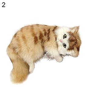 Walkretynbe Hausdekoration, Dekoration, kreatives Katzenmotiv, süßes Hausschuh, Katzenspielzeug, Tier-Geschenk, Auto-Dekoration, Braun, Plastik, gelb, Einheitsgröße