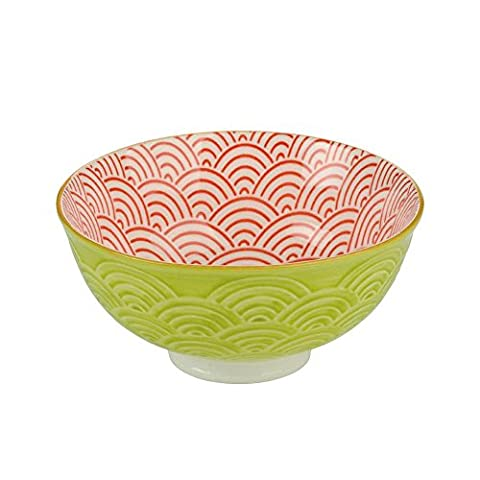 DRH BIA Taipei Rice Bowl in Green, Red & Yellow