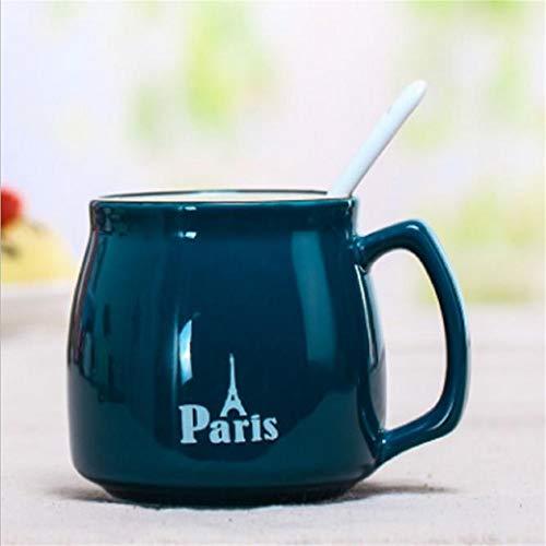 Hengrui gypsophila gift new bone china nuova tazza da colazione tazza giapponese tazza in ceramica tazza blu profondo