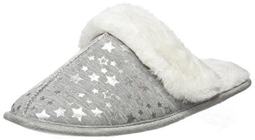 New Look Noil Jersey Foil, Zapatillas de Estar por Casa para Mujer, gris (Mid Grey), L