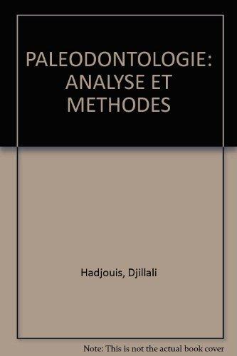 PALEODONTOLOGIE: ANALYSE ET METHODES