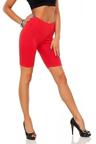 Futuro-Fashion-Cotton-Leggings-12-Length-Over-Knee-Shorts-Active-Sport-Casual-Pants-LK
