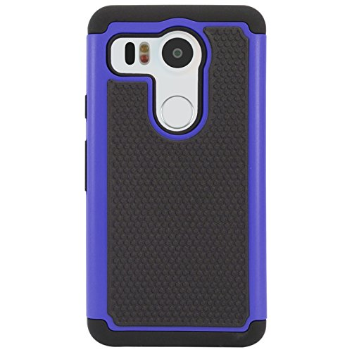 DMG Hybrid Dual Layer Armor Defender Protective Case Cover for LG Nexus 5X 2015 (Blue)  available at amazon for Rs.99