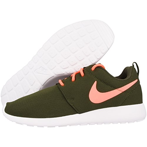 2982c2ba63b2 ... Nike Damen Wmns Roshe One Sneakers legion green-lava glow-white (511882-