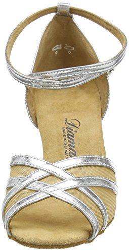 Diamant Latein Tanzschuhe, Chaussures De Danse Pour Femme, Argent Standard Et Latino