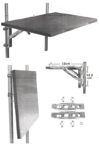 Osculati Edelstahl Klapp-Arm für Tische heavy duty bis 150kg (Klapptisch Halterung)