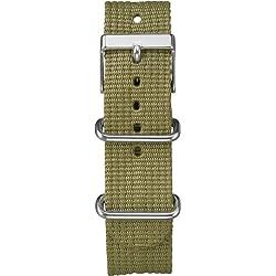 Timex Weekender Unisex Green Nylon Strap T7B911BL