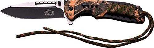 MASTER USA Taschenmesser MU-A038 Serie, Messer CAMO DESIGN Griff mit Kordel, scharfes Jagdmesser, Outdoormesser 8,9 cm ROSTFREI Teilgezahnt Klinge, Klappmesser für  Angeln/ Camping -