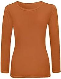FAST TREND CLOTHING Nuevo Niñas Plain Full Size Camisa de Manga Larga Edad 7 – 13