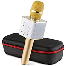 Zeom Q7 Sound Bluetooth Wireless Karaoke Mic With Speaker For Home, Party, Singing | Microphone Condensor For Mobile, Laptop Etc.