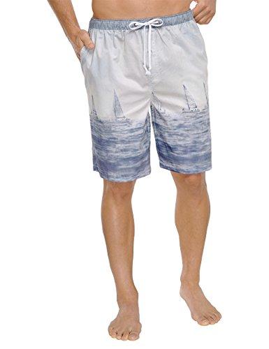 Schiesser Herren 152192 Schlafanzughose, Blau (hellblau 805), XX-Large (Herstellergröße: 056)
