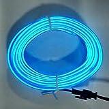 Striscia di Illuminazione Interna per Auto 3M 12V luci Fredde a LED Flessibile Neon El Wire Auto Lights Strip Line Decorazione per Interni Lampada per Strisce(Blu) Jasnyfall