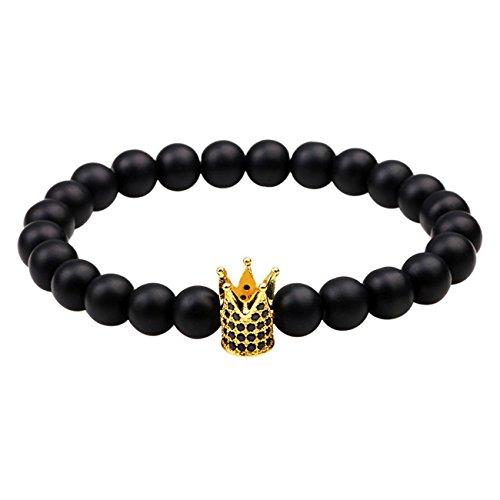 stile-etnico-unisex-nero-glassato-bead-corona-braccialetto-di-rame-coppia-wristband-2-pezzi-gold-cro