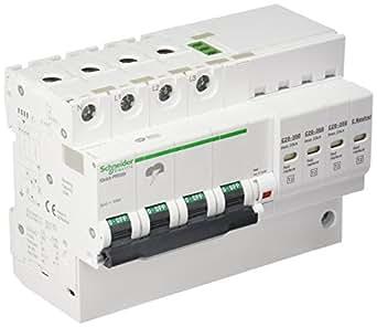 Schneider Electric A9L16297 iQuick PRD20r Parafoudre avec Report Signalisation, Acti 9, 3P+N, 94 mm Hauteur x 131.5 mm Largeur x 75.9 mm Profondeur, 2 A Courant, 350V, 50/60 Hz, Blanc