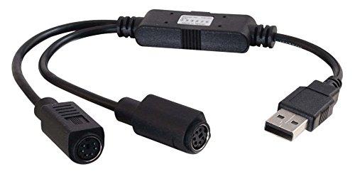 Preisvergleich Produktbild Cables to Go 81644 Tastatur / Maus-Adapterkabel (USB auf PS / 2,  0, 3m) schwarz