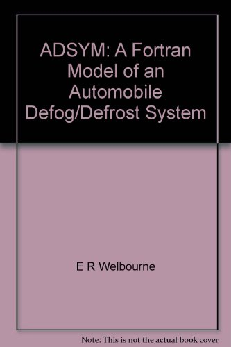 ADSYM: A Fortran Model of an Automobile Defog/Defrost System - Defrost-system