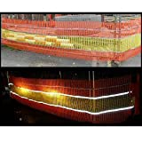 Reflective Safety Barrier Mesh Fence 0.9m x 30m Knitted - Orange & Yellow
