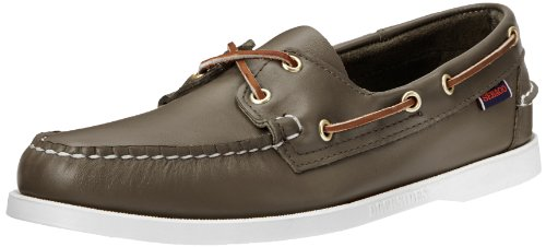 Sebago Docksides Chaussures Bateau Pour Homme Moss Green