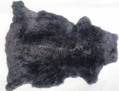 Forma naturale 110x 90cm molto spessore blu in pelliccia di volpe da tavola
