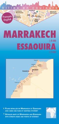 Marrakech & Essaouira, planos callejeros. Escala 1:8000 y 1:3.000. Laure Kane.