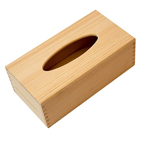 Caja pañuelos toallitas decorativa madera abeto