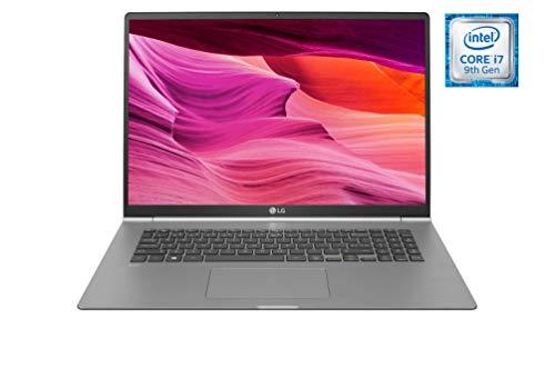 "LG gram 17Z990-V - Ordenador portátil Ultraligero de 17"" WQXGA IPS (1,3kg, autonomía 19,5h, Intel i7 8ª Gen., 8GB RAM, 512GB SSD, Windows 10 Home) Plata - Teclado Español"