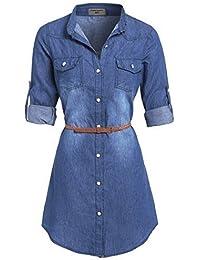 SS7 NEUF Vintage Bleu Denim Robe Chemise Tailles 8 , 14