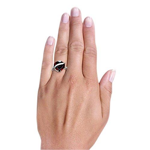 Goldmaid Damen-Ring 925 Sterlingsilber granatfarbener Zirkonia - 3