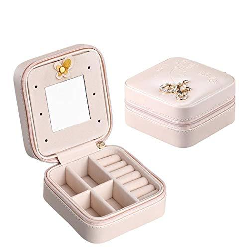 fnemo kosmetische Schmuckschatulle,kosmetische Schmuck Aufbewahrungsbox für Halskette Ohrring Armbänder Beauty Organizer Geschenk Reisen (Schmuck-reise-veranstalter)