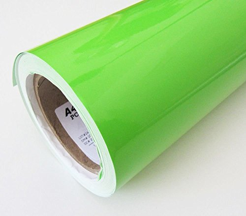 "Fusion 24""x12"" Glossy Parrot Green Vinyl Car Wrap Sheet Roll Film Sticker Decal"
