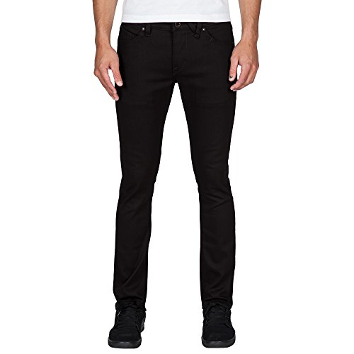 Volcom Herren, Straight Leg, Jeans, 2X4 DENIM Black On Black