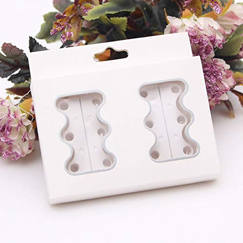 Beautiful UKnight 1 Pair of Magnetic Laces Closures Lace-up Laces Locks Buckles Shoes-White