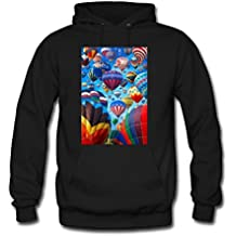 weileDIY Hot Air Balloon DIY Custom Mens Classic Hoodie Sweatshirt